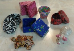Some of Capel Ladies' Finished Decopatch Items