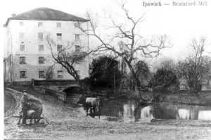 Bramford Mill as it once stood on the Gipping