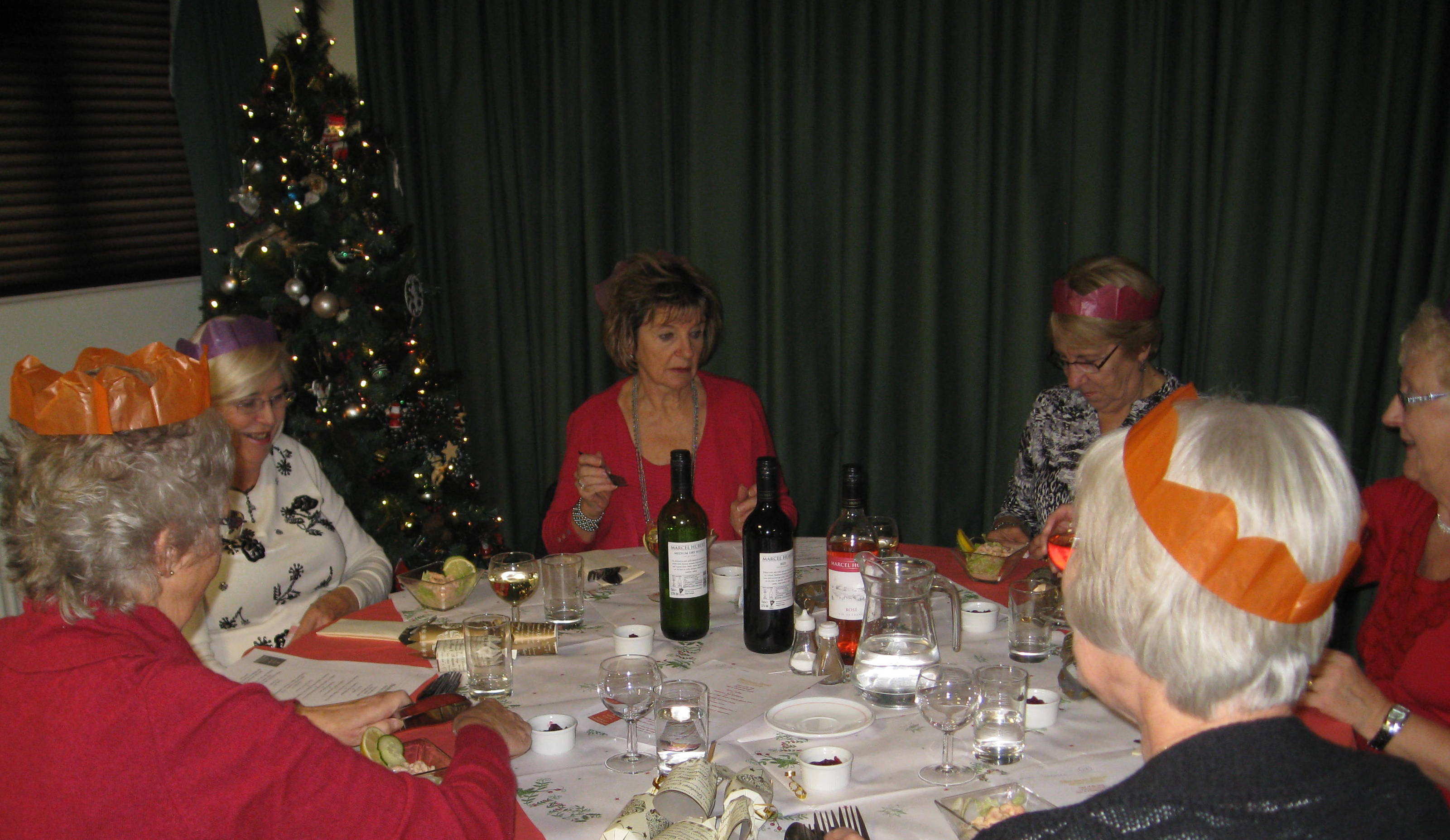 Dec 3rd Christmas Meal At Acorn Village Capel Ladies Club