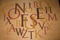 Maureen's Test Piece - Carving of the Alphabet