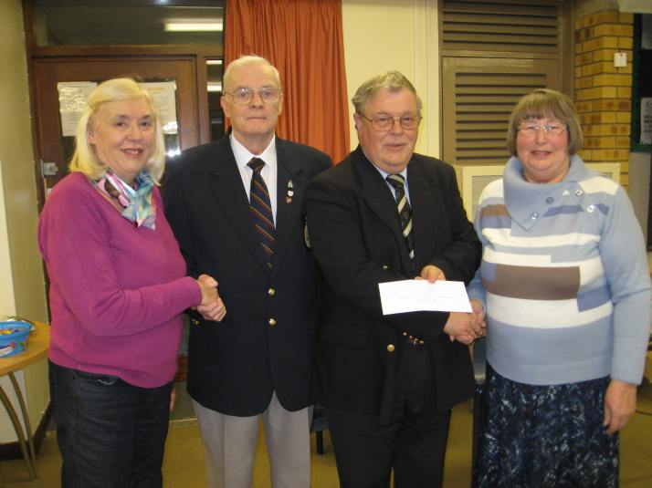 War Memorial contribution cheque presentation, April 7th 2016