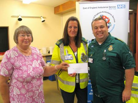 Charity Evening Cheque Presentation 007