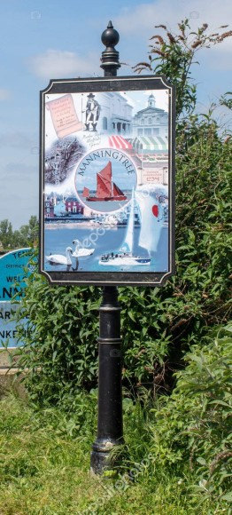 Village sign for Manningtree  Essex